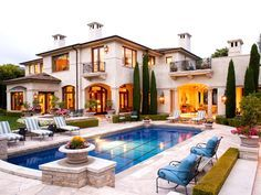 Elegant Mediterranean home and swimming pool
