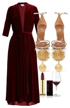"""""""Untitled #5101"""" by olivia-mr ❤ liked on Polyvore featuring LUISA BECCARIA, Aquazzura, Dolce&Gabbana, Wine Enthusiast and Kevyn Aucoin"""