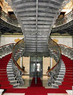 Palácio da Liberdade staircase in Belo Horizonte, Brazil; The Palace of Liberty once served as the home of the governor, but is now an interactive museum.