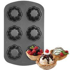 tulipas de cookies para servir helados Copas creativas de helado y cookies con estos moldes