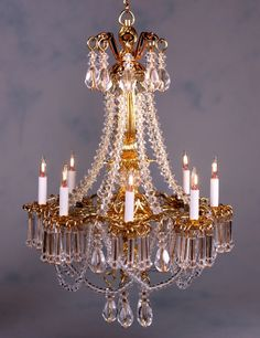 Versailles Chandlier by J.Getzan - $295.00 : Swan House Miniatures, Artisan Miniatures for Dollhouses and Roomboxes