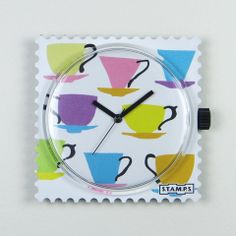 S.T.A.M.P.S Watch Face - Coffee Party - French Pear Gifts