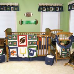 Trend Lab Football Baby Crib Bedding Collection at SimplyBabyBedding