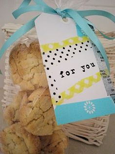 Cookie Gift (and other cute ways to use washi tape)