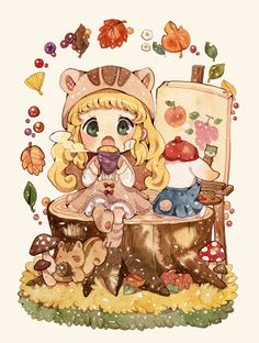 pixiv is an illustration community service where you can post and enjoy creative work. A large variety of work is uploaded, and user-organized contests are frequently held as well. Chibi Kawaii, Cute Chibi, Kawaii Art, Kawaii Anime, Dibujos Anime Chibi, Chibi Anime, Chica Anime Manga, Manga Drawing, Manga Art