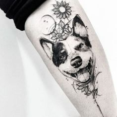 Cute and lovely dog tattoos ideas for dog lovers 10