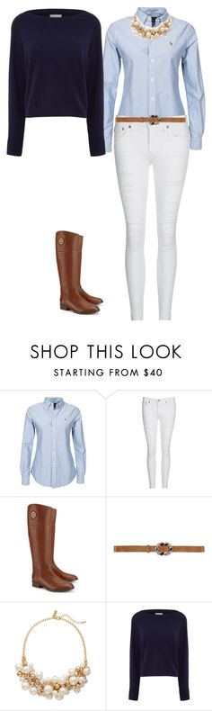 """Equestrian"" by aline-brodbeck on Polyvore featuring moda, AG Adriano Goldschmied, Tory Burch, Love Moschino, The Limited e Osman"