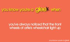 You know you're a gleek when...✨