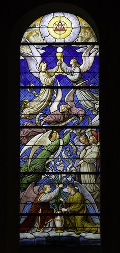 This stained glass window is in the church of SS Gervase & Protase in Paris.