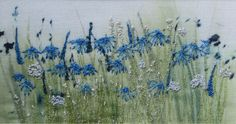 Beautiful work by Sue Barker, textile artist - links to website showing Machine Embroidery Projects, Free Machine Embroidery, Embroidery Art, Embroidery Stitches, Embroidery Designs, Thread Painting, Fabric Painting, Thread Art, Creative Textiles