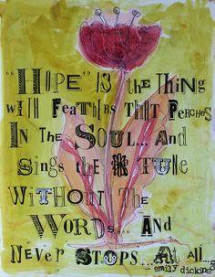Hope..........Emily Dickinson