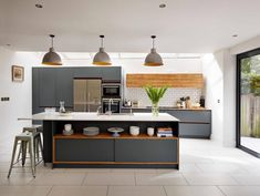 25 Awesome Modern White and Grey Kitchens Design and Decor