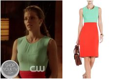 Shop Your Tv: 90210: Season 5 Episode 19 Naomi's Green and Red Contrast Dress