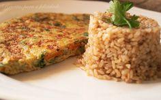 Omelete de Aveia e Legumes, com Arroz Integral
