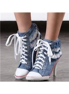High Quality ankle boots in fashion trends for discount over sale on Shoespie. Including high heel ankle boots clearance and snow ankle boots sales, shop now! Page 3 Shoes Boots Ankle, Heeled Boots, Ankle Booties, Sneakers Fashion Outfits, Fashion Shoes, Basket Style, Baskets, Lace Decor, Fresh Shoes