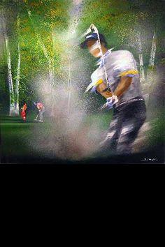 victor spahn golf - Recherche Google Golf Painting, Golf Pictures, Golf Art, Sports Images, Wide World, World Of Sports, Play Golf, Bunker, Golf Tips