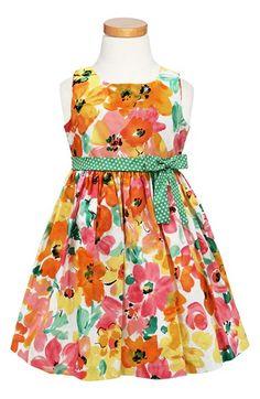 Sorbet Multicolor Floral Sleeveless Dress (Toddler Girls, Little Girls & Big Girls) available at #Nordstrom