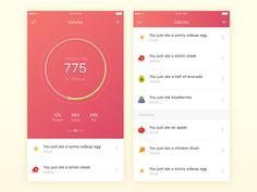 Calorie Counter - UI Movement