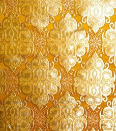 So beautiful. Gold Tibetan patterned textile (?) from Exotic India Art.