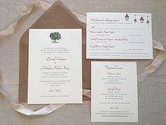 Rustic wedding invitation for barn or farm venue. Hobart and Haven  www.hobartandhaven.com