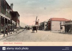 inch mm) wooden frame with digital mat and print (other products available) - Albert Road, Woodstock, Cape Town, South Africa, with shops and a windmill. Date: circa 1908 - Image supplied by Mary Evans Prints Online - Wooden frame with mat made in the USA Woodstock Photos, Canvas Prints, Framed Prints, Cape Town South Africa, Old Photos, Photo Mugs, Poster Prints, Shops, Street View