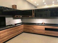 Modern Kitchen Interiors, Luxury Kitchen Design, Kitchen Room Design, Modern Kitchen Cabinets, Kitchen Layout, Home Decor Kitchen, Interior Design Kitchen, Island Kitchen, Kitchen Cupboard Designs