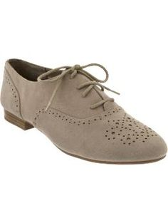 Women's Sueded Perforated Oxford Shoes from oldnavy.com