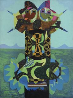 Eileen Agar RA Couple in a Landscape, 1981 Acrylic on canvas 102 x 76 cm Signed, titled, and dated verso Similarities And Differences, Esoteric Art, A Level Art, Famous Art, Agar, Art Of Living, Medium Art, Art History, Art Prints