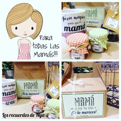 Kit desayuno personalizado para el día de la madre. Diy Y Manualidades, Edible Gifts, Breakfast On The Go, Mom Day, Food Gifts, Gift Packaging, Happy Mothers Day, Small Gifts, Gift Baskets