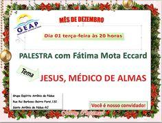 GEAP – Grupo Espírita Antonio de Pádua Convida para a sua Palestra Pública – Santo Antônio de Pádua – RJ - http://www.agendaespiritabrasil.com.br/2015/12/01/geap-grupo-espirita-antonio-de-padua-convida-para-sua-palestra-publica-santo-antonio-de-padua-rj/