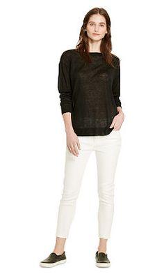 Sheer Linen-Blend Sweater - Lauren Scoop, Crew & Boatnecks - RalphLauren.com