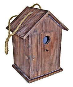 Love this Wooden Bird House on #zulily! #zulilyfinds
