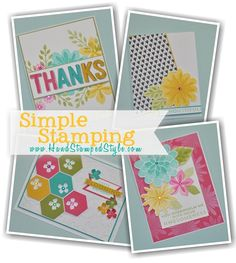 Hexagon Punch + Flower Patch Set Makes for Sweet Spring Classes with http://www.handsatmpedstyle.com