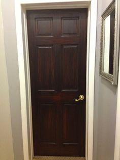 DIY or Die - General Finishes Java Gel Stained Dark Doors Tutorial