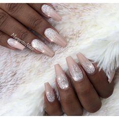 nail art design inspiration ideas DIY   #stiletto   ombre   pink   glitter   gel polish   acrylic   tutorial   easy