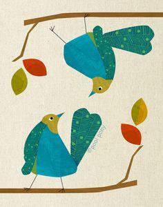 mid-century love birds