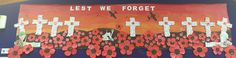 Anzac art, paint and collage