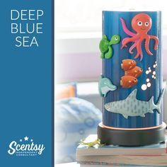 Deep Blue Sea! Diffuser for the kids with magnets so they can move them around!  It's an adventure under the waves! Little voyagers will love creating fantastical scenes with magnetic — or are they magic? — sea creatures, while they discover new ways to explore at every turn! Includes six magnets.