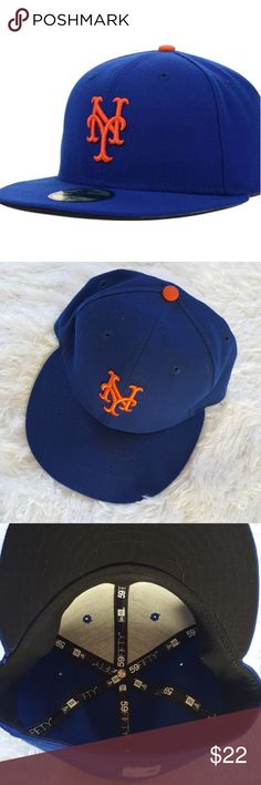New York Mets Baseball Cap Size 7 Get ready for the next big game with this New York Mets Authentic Collection On Field 59FIFTY fitted hat from New Era! The authentic graphics will put your New York Mets fandom on the forefront!.  SPECIFICATION  Material: 100% PolyesterHigh CrownStructured fitFlat billFittedSix panel construction with embroidered eyeletsRaised embroiderySurface WashableOfficially licensedImported  Size- 7  Good condition New York Mets Accessories Hats