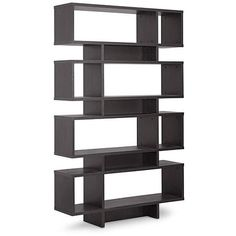 Cassidy 8-Level Dark Brown Modern Bookshelf - Walmart.com