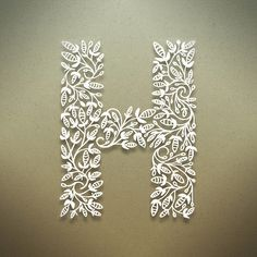 Letter H. Botanical alphabet, Creative Lettering Type Design and Typography inspiration for CAPI students, with thanks to typographer Seth Mach, Letter, Alphabet, ABC