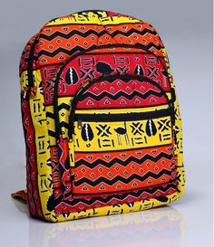We Are Africa Backpack African Accessories, African Jewelry, African Inspired Fashion, African Men Fashion, Fabric Handbags, Fabric Bags, Ankara Bags, African Colors, Sacs Design