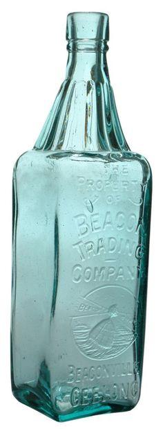 Beacon Trading Company, Beaconville, Geelong. Buoy trade mark. Fancy neck. c1920s