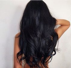 My hair is naturally black and I can't wait for it to look like this! Maybe I'll go tanning a little bit too :)