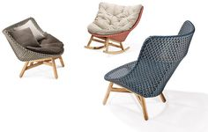 sebastian herkner's outdoor 'mbrace' chair collection for dedon at imm cologne all images courtesy of dedon