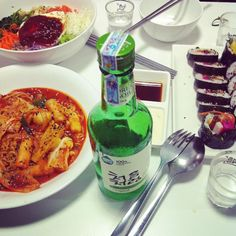 Korean food #ahstress #Korean #food #dinner #soju #alcohol #kimbab #tokkboki #letsdrink #saigon #saigonstyle #hcmc #vietnam