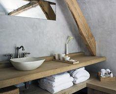 Der Waschtisch Ist Zentrales Element Und Prägt Den Stil Des Badezimmers.  (Waschtischlösung Auf Dem