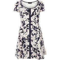 Dorothy Perkins Lily Floral Placket Dress