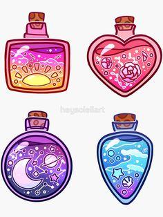 """Summer Potions Sticker Sheet"" Sticker by heysoleilart | Redbubble Cute Food Drawings, Cute Animal Drawings Kawaii, Arte Do Kawaii, Kawaii Art, Kawaii Stuff, Cute Art Styles, Cartoon Art Styles, Kawaii Stickers, Cute Stickers"