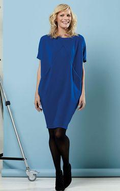 Free PDF pattern, GBSB Drapey knit dress